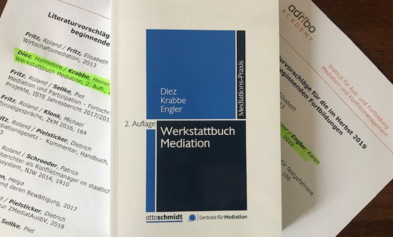 Endlich wieder erhältlich: Das WERKSTATTBUCH MEDIATION
