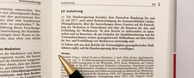 Bundesregierung legt Evaluationsbericht zum Mediationsgesetz vor