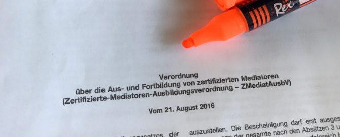 Neue Ausbildungsverordnung für Zertifizierte Mediatoren